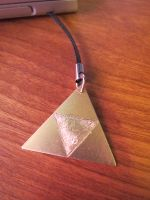 Etched Brass Triforce by Sarinilli