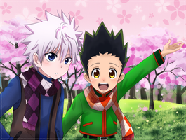 Killua x Gon by cyoko