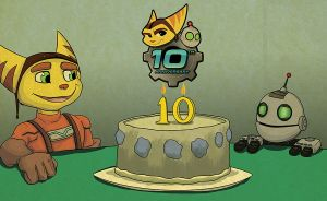 [FANART] Ratchet and Clank, 10th Anniversary cake by tamalero