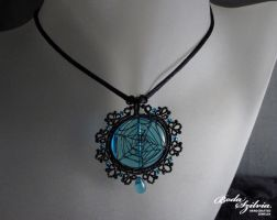 Spider web pendant by bodaszilvia