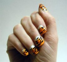 Tiger Nails by OMG-itz-J3551K4