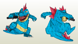 Papercraft - Feraligatr by Jyxxie