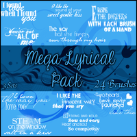 Mega Lyrical Brushes by Illyera