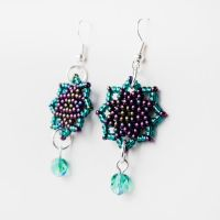 Peacock Stars Earrings by borysbrytva