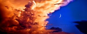 Moon + Venus 3000x1200 by SyntheticIdea