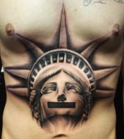 Statue of Liberty censored tat by hatefulss