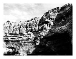 Black and White Cliffs by CaseyAdamF
