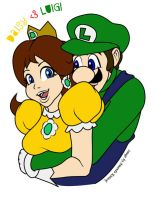 Luigi loves Daisy by LadyNyaruInfinity
