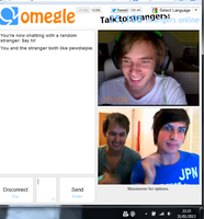 Pewdiepie on omegle by Larry--Stylinson