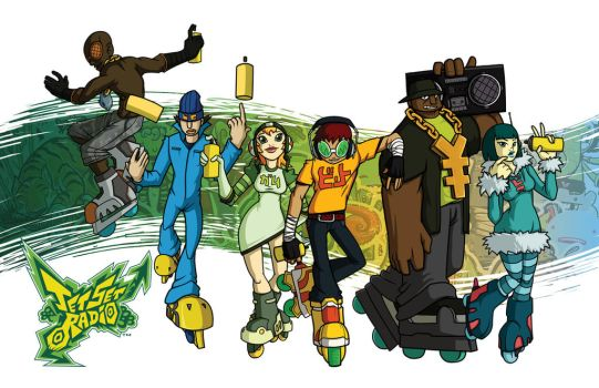 Jet Set Radio // 2012 REMIX by taves