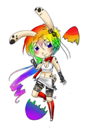 Rainbow egg HATCHED by RukaisaADOPTS