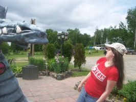 Me with Ogopogo statue by athyn100