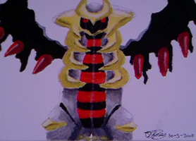 Giratina painting by Gallade007