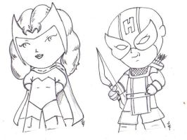 Scarlet Witch and Hawkeye by Jason-Lee-Johnson