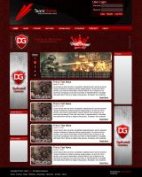 Premade Gaming Template Red by atomiccc