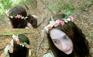 Cherry and Willow Floral Crown by ValkyrieOfODIN
