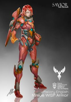 Commission: Nimue WISP Armor by aiyeahhs