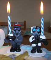 RA Candle holders in action by BlueSmudge