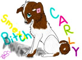 My doggy Carley by InvaderMayMay
