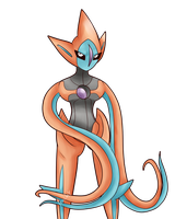 Attack Form Deoxys by So-Many-Peaches