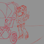 Stroller Sketch by Ar-Kayn