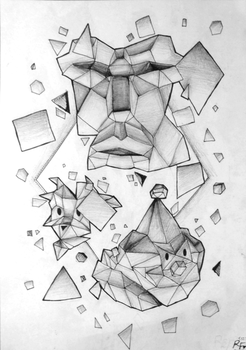 Cubism- Scattered by Rosegold05