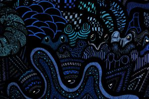 Detail from -Fjord- in Blue by afac86