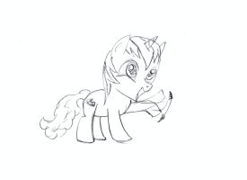MLP:FiM - Pencil Magic - sketch. 9 by MortenEng21