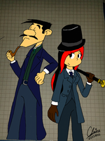 ::Request::Cosplaying as Holmes and Watson by metheunawesome14