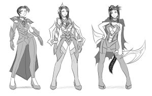 [Sketches] Metaworld Concept Arts by Darkan-Kana