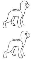 Creature / Basic quadruped lineart by Daisyvayle
