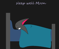 Cute Slepping Moon by shadamylove9