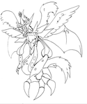 Ume - Lineart by DeadlyObsession
