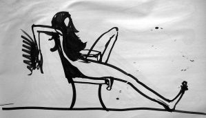 Woman in chair by Homeplanet