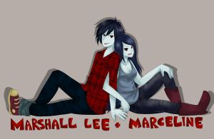 Marshall Lee and Marceline by virinn