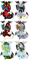 Christmas Adoptables 2009-wip- by Tattletail