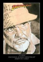 Sketch Card-Indiana Jones 14 by TrevorGrove