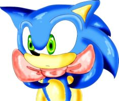 sonic with a bow by Patrial