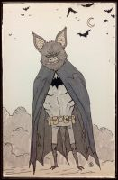 DailyDoodle BATman by darrenrawlings