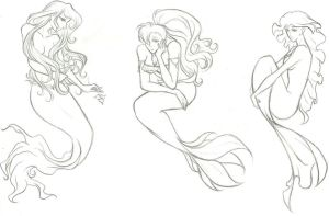 Mermaid Adoptables (SOLD) by awildchelseaappeared