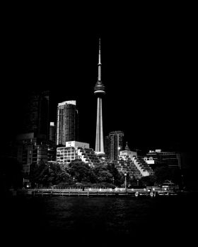 CN Tower From Bathurst Quay Toronto Canada by thelearningcurve-da