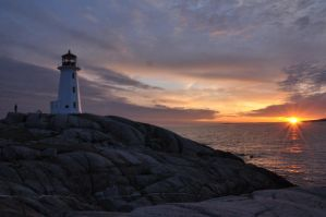Lighthouse at sunset by Jachalifax