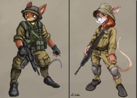 Mouse Soldier Concepts - 01 by TheLivingShadow