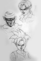 DBZ Charaters sketches by CangDu