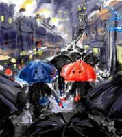 The Blue Umbrella (Pixar) by AbstractSun