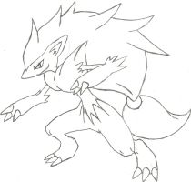 Zoroark Sketch by CoolMan666