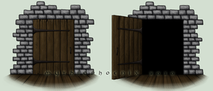 Zani:  Trick or Treat Doors by MythicPhoenix