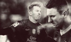 Messi 1.B and W by MarySeverus