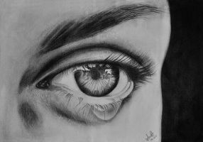 My Tears - Graphite Drawing by aneeshanson