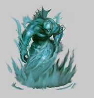 Water Elemental by WorldsOfMagic
